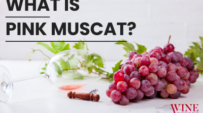 What is pink muscat red grapes and glass