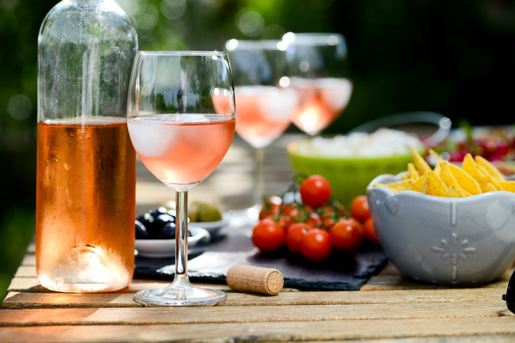 White Zinfandel paired with fun foods