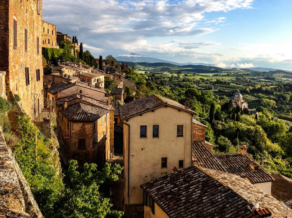 View of the town of Montepulciano